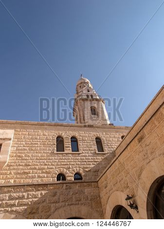 Basilica of the Dormition on Mount Zion in Jerusalem Israel
