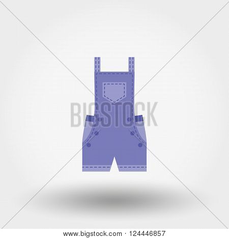 Rompers. Icon for web and mobile application. Vector illustration on a white background. Flat design style.
