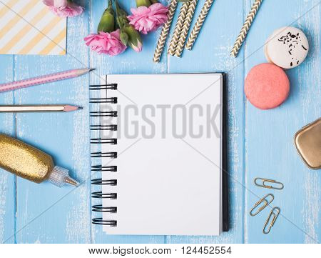 Styled Mockup With Blank Notepad