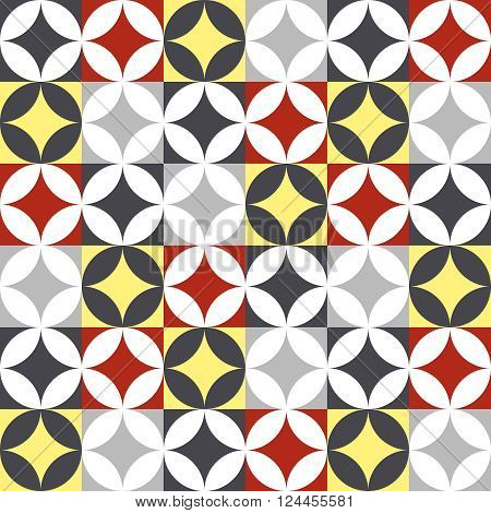 Traditional Style Ceramic Tile Patchwork Design