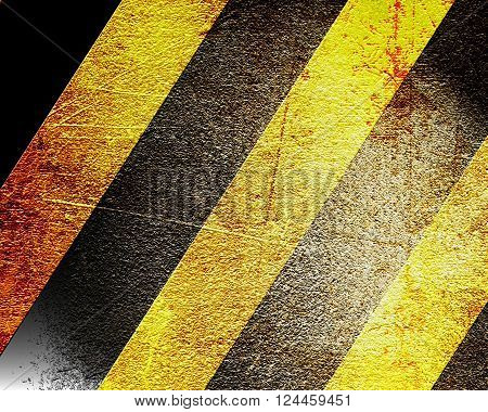 Black and yellow hazard lines with grunge effects