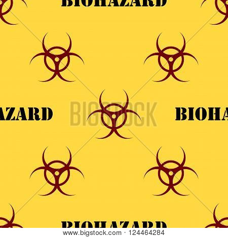 Seamless Patterns With Biohazard Symbol
