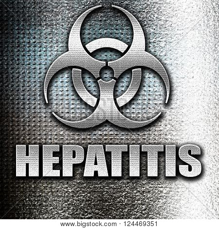 Grunge metal Hepatitis virus concept background with some soft smooth lines