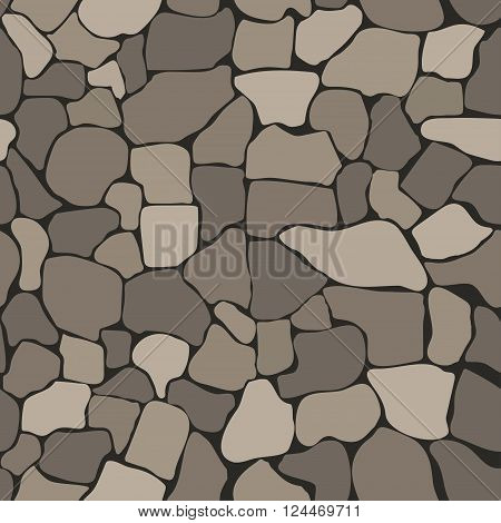 Stone wall seamless texture, stonewall background, brick wall nature patten