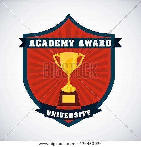 academic award design, vector illustration eps10 graphic