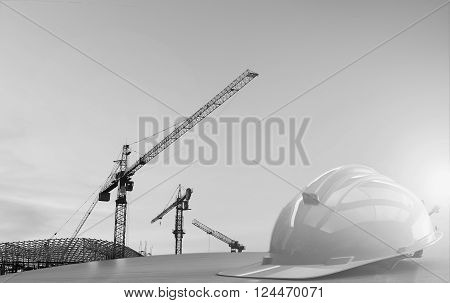 Concept safety first  : construction site work safety.