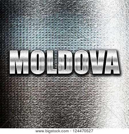 Grunge metal Greetings from moldova card with some soft highlights