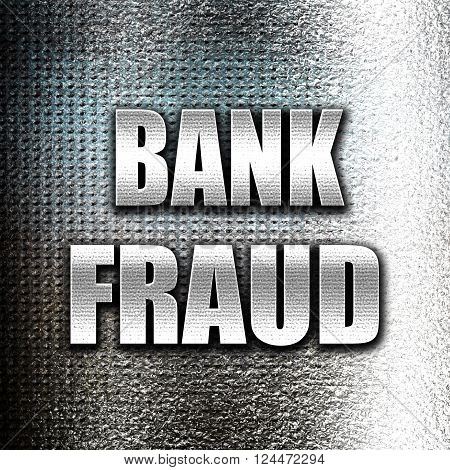 Grunge metal Bank fraud background with some smooth lines