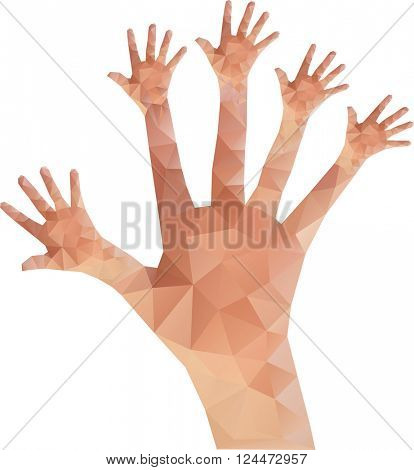 Give me Five Low Poly Vector