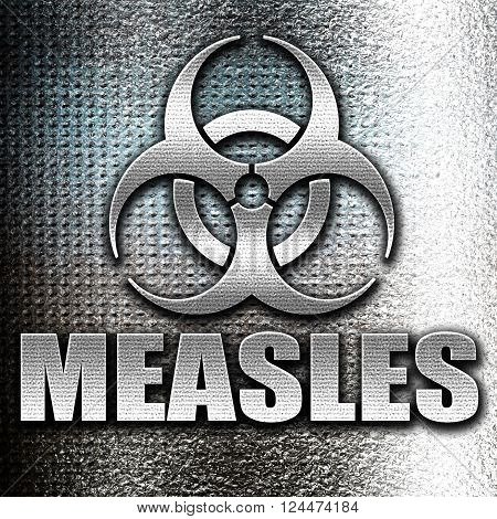 Grunge metal measles concept background with some soft smooth lines
