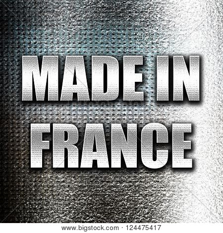 Grunge metal Made in france with some soft smooth lines