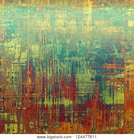 Beautiful retro background, nice looking ancient texture with different color patterns: yellow (beige); green; blue; red (orange); pink
