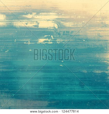 Retro grunge vintage background or weathered antique texture with different color patterns: yellow (beige); brown; blue; gray; cyan