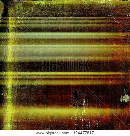 Mottled vintage background with grunge texture and different color patterns: yellow (beige); brown; green; red (orange); black