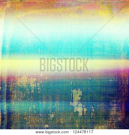 Old, grunge background or damaged texture in retro style. With different color patterns: yellow (beige); green; blue; red (orange); purple (violet)