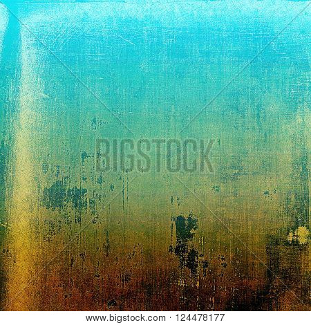 Vintage background, antique grunge backdrop or scratched texture with different color patterns: yellow (beige); brown; green; blue; cyan