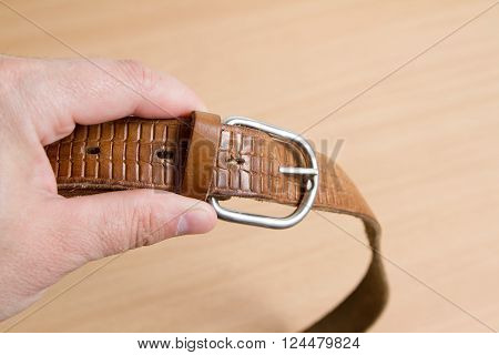 Hand Keeps Leather Belt