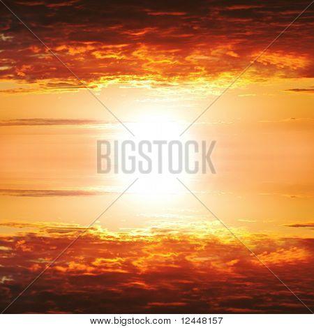 orange Sky cloudscape