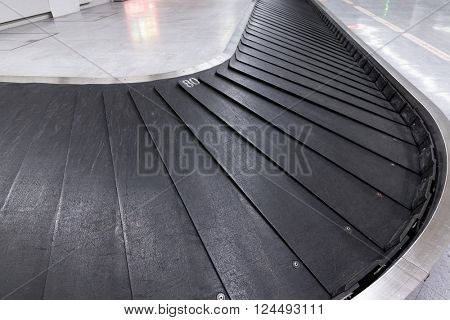 Empty airport baggage belt