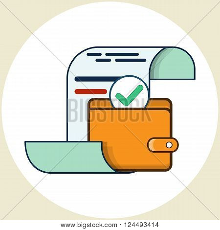 Pay the Bills. Vector icon in flat style.