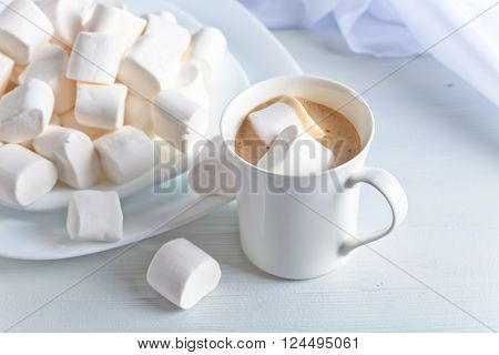 Marshmallows And A Cup Of Latte