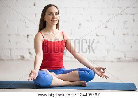 Yoga Indoors: Ardha Padmasana Position
