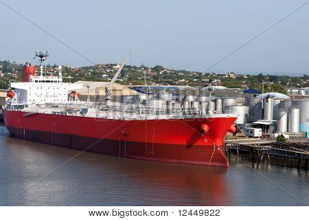 Brisbane: tanker in port.