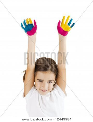Hände gemalt
