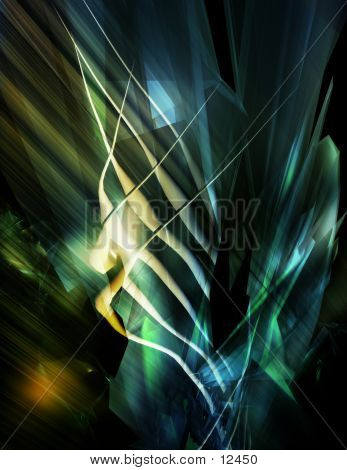 Abstract, Three Dimensional Digital Background 1