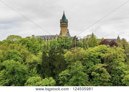 Luxembourg, Luxembourg - May 15: This is tower building Luxembourg bank