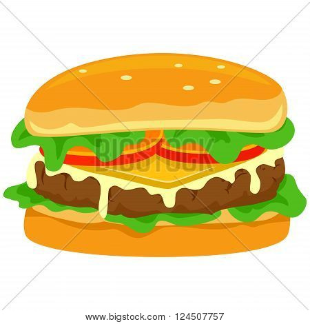 Stock Vector Illustration of  a Yummy Hamburger