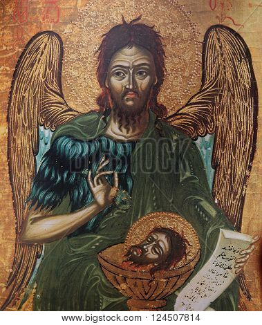 Byzantine Icon In Church Of Savior Of Neredica, Novgorod, Russia