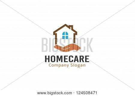 Home Care Creative And Symbolic Logo Design Illustration