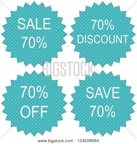 Sale coupon design save up to 70 percents.