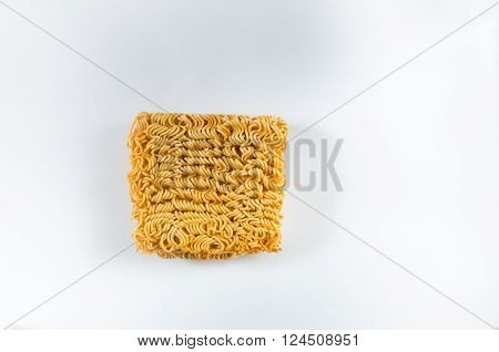 Asian Ramen Instant Noodles Isolated On White Background.nef
