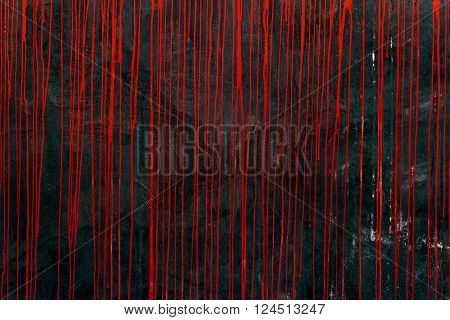 Dripping Paint On Grunge Concrete Wall - Textured