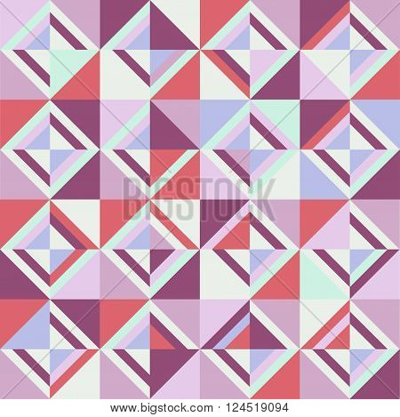 Colored triangles. Seamless pattern. Coloful vector illustration.