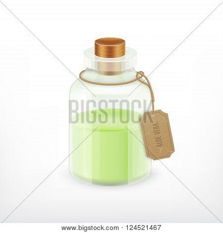 Essential oil. Aloe vera essential. Health vector icon. EPS10 vector