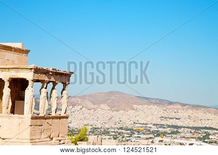 Statue Acropolis Athens     The Old Architecture
