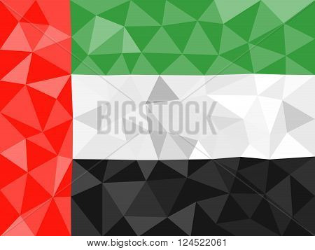 United Arab Emirates high poly flag in EPS 8 format.