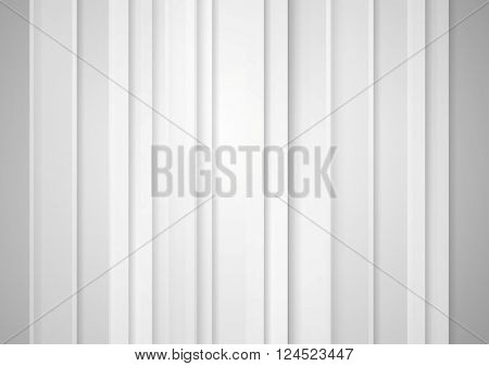 Abstract grey minimal striped tech background. Vector graphic concept design