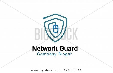 Network Guard Creative And Symbolic Logo Design Illustration