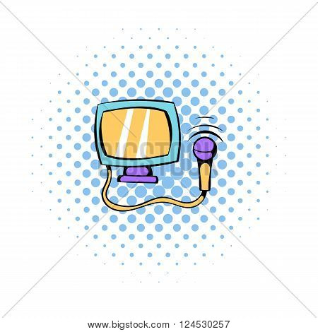 Ultrasonic scanner for medical examination icon in comics style on a white background
