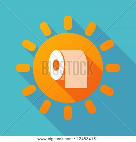 Long Shadow Sun With A Toilet Paper Roll