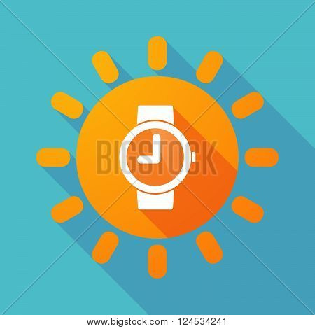 Long Shadow Sun With A Wrist Watch