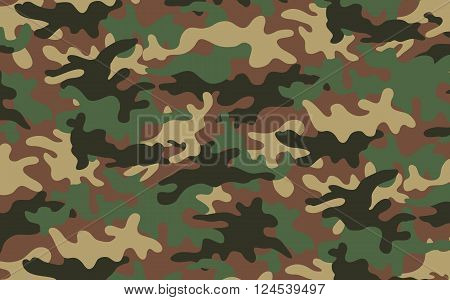 Vector illustration of green khaki and brown camouflage pattern
