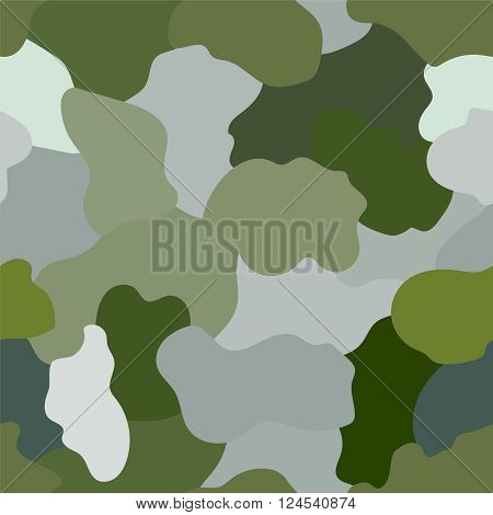 Seamless Military Camouflage. Illustration of a military camouflage with green shades for army background wallpapers.