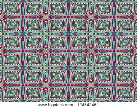 Background Tribal Monogram Aztec Texture Colorful 2