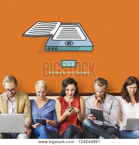 Ebook Reading Digital Learning Modern Concept
