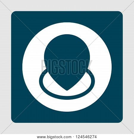 Location Icon In Vector Format. Premium Quality Location Icon. Web Graphic Location Icon Sign On Blu
